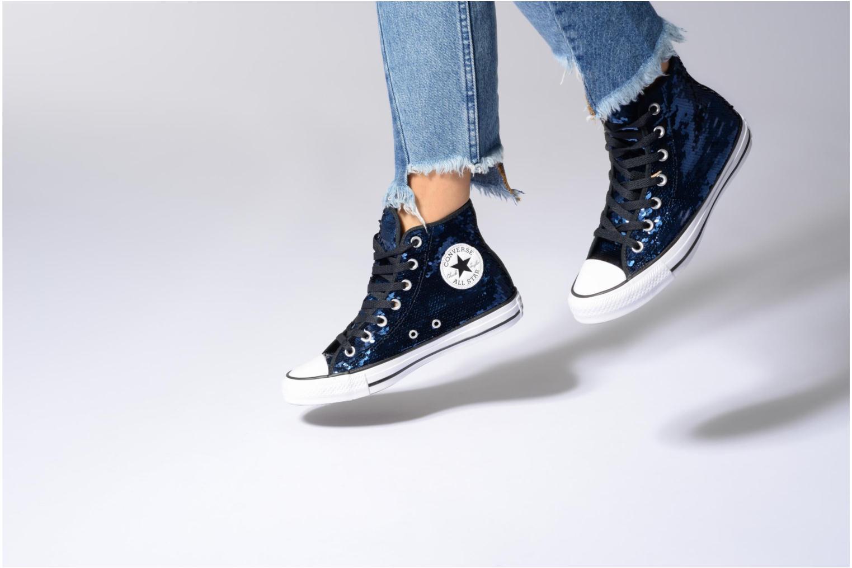 Sneakers Converse Chuck Taylor All Star Sequins Hi Azzurro immagine dal basso