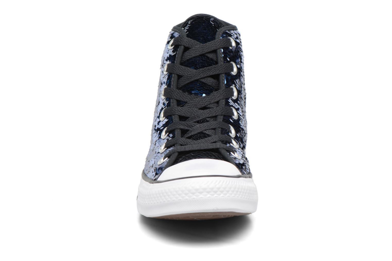 Baskets Converse Chuck Taylor All Star Sequins Hi Bleu vue portées chaussures