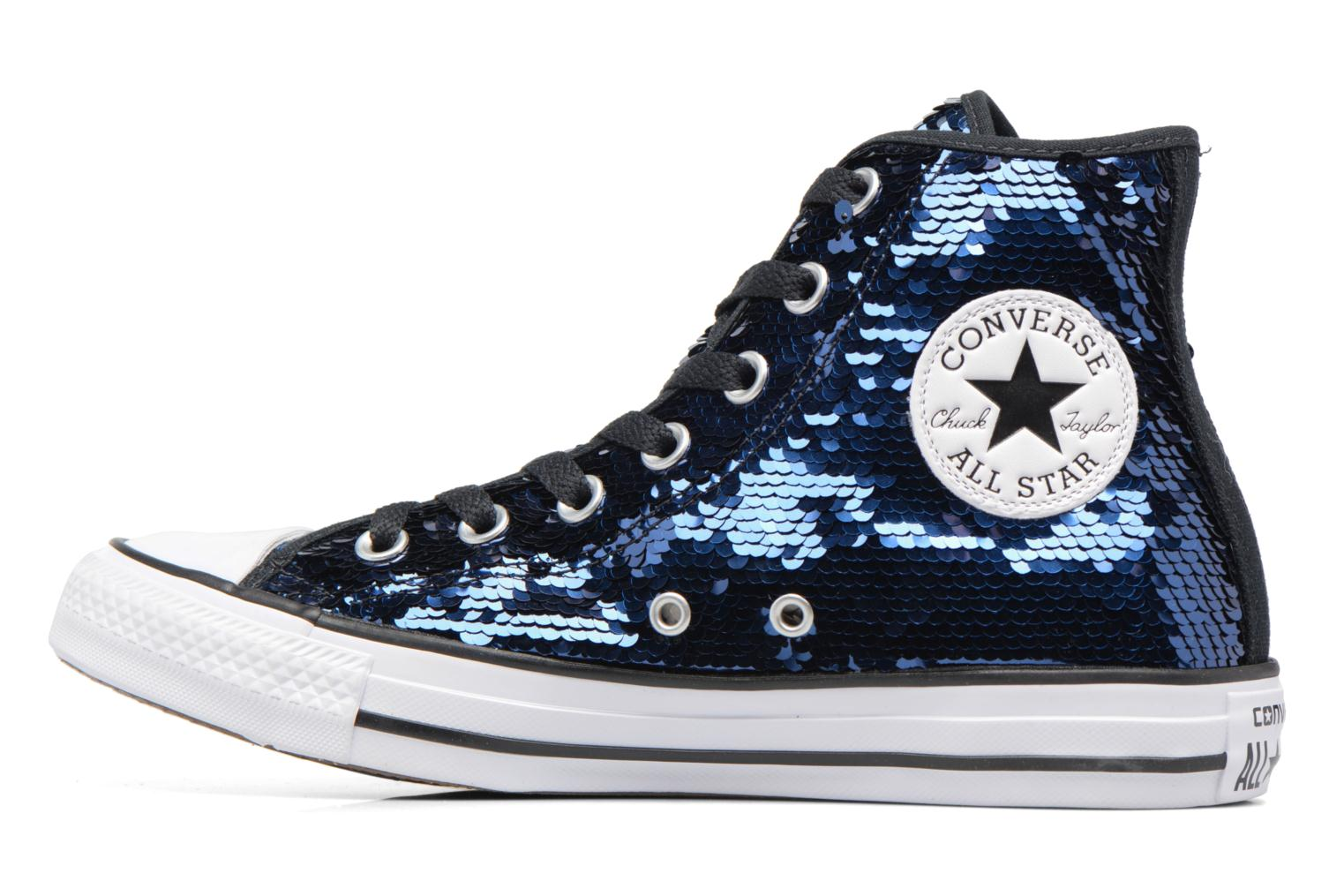 Sneakers Converse Chuck Taylor All Star Sequins Hi Azzurro immagine frontale