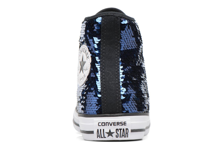 Sneakers Converse Chuck Taylor All Star Sequins Hi Azzurro immagine destra