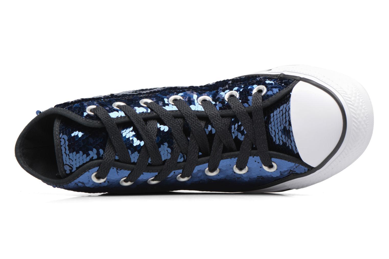 Baskets Converse Chuck Taylor All Star Sequins Hi Bleu vue gauche