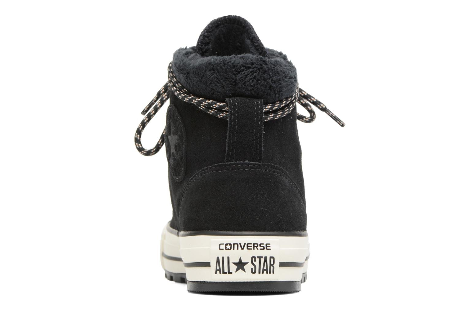 Botines  Converse Chuck Taylor All Star Ember Boot Suede + Fur Hi Negro vista lateral derecha