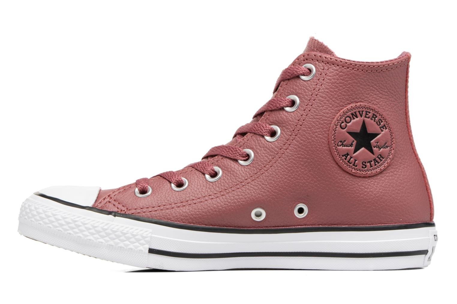 Baskets Converse Chuck Taylor All Star Tumbled Leather Hi Bordeaux vue face