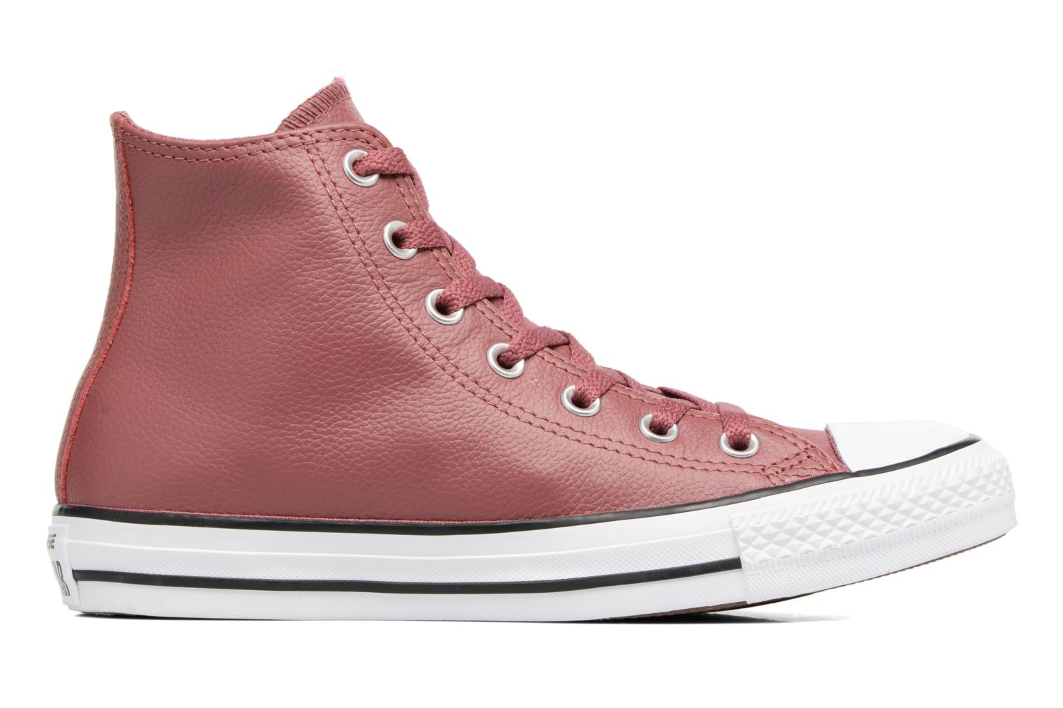 Baskets Converse Chuck Taylor All Star Tumbled Leather Hi Bordeaux vue derrière