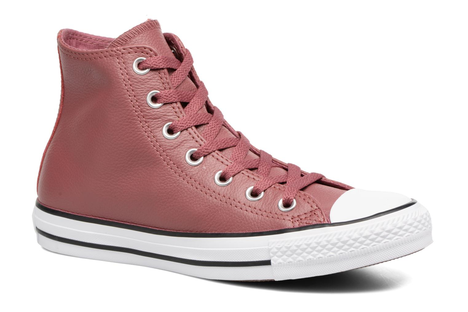 Baskets Converse Chuck Taylor All Star Tumbled Leather Hi Bordeaux vue détail/paire