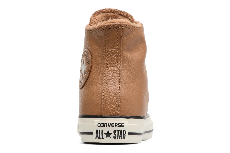 Baskets Converse Chuck Taylor All Star Leather + Fur Hi Marron vue droite