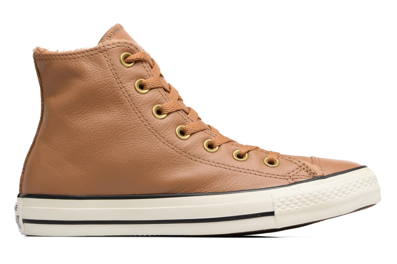 Baskets Converse Chuck Taylor All Star Leather + Fur Hi Marron vue derrière