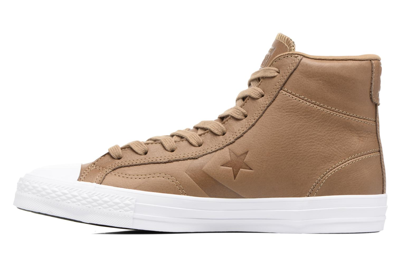 Baskets Converse Star Player Leather Hi Marron vue face