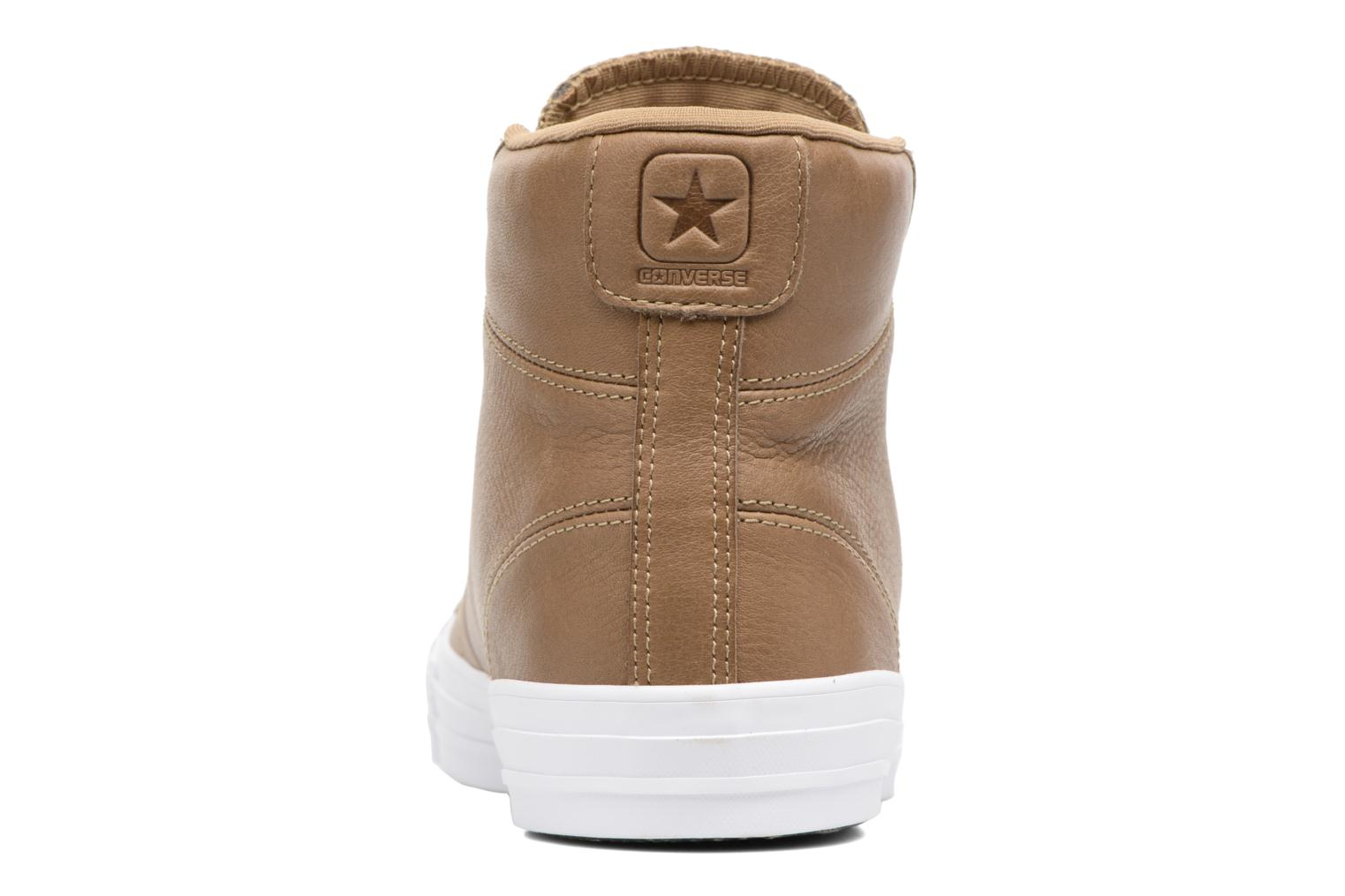 Baskets Converse Star Player Leather Hi Marron vue droite