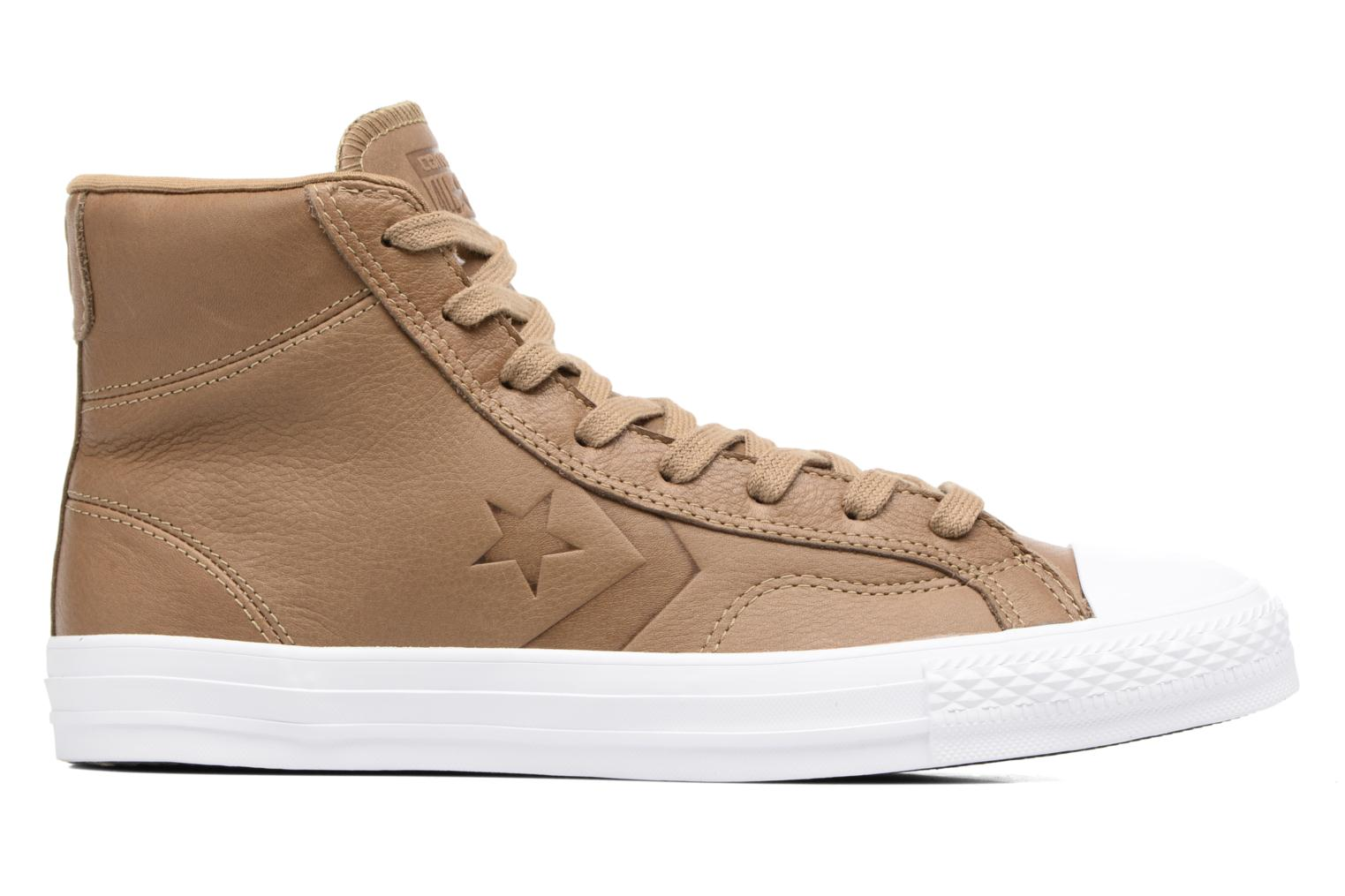 Baskets Converse Star Player Leather Hi Marron vue derrière