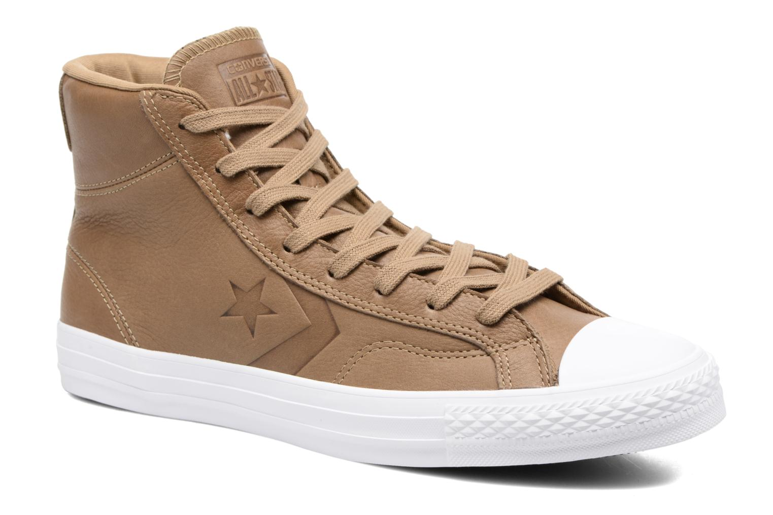 Baskets Converse Star Player Leather Hi Marron vue détail/paire