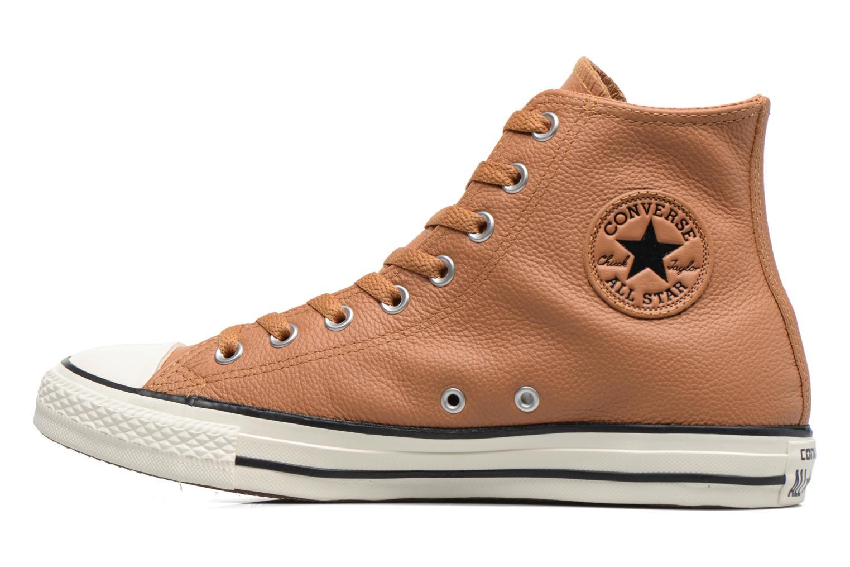 Baskets Converse Chuck Taylor All Star Tumble Leather Hi Marron vue face