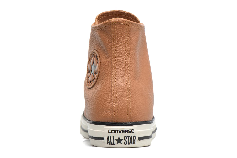 Baskets Converse Chuck Taylor All Star Tumble Leather Hi Marron vue droite