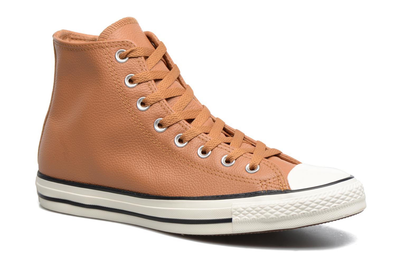 Baskets Converse Chuck Taylor All Star Tumble Leather Hi Marron vue détail/paire