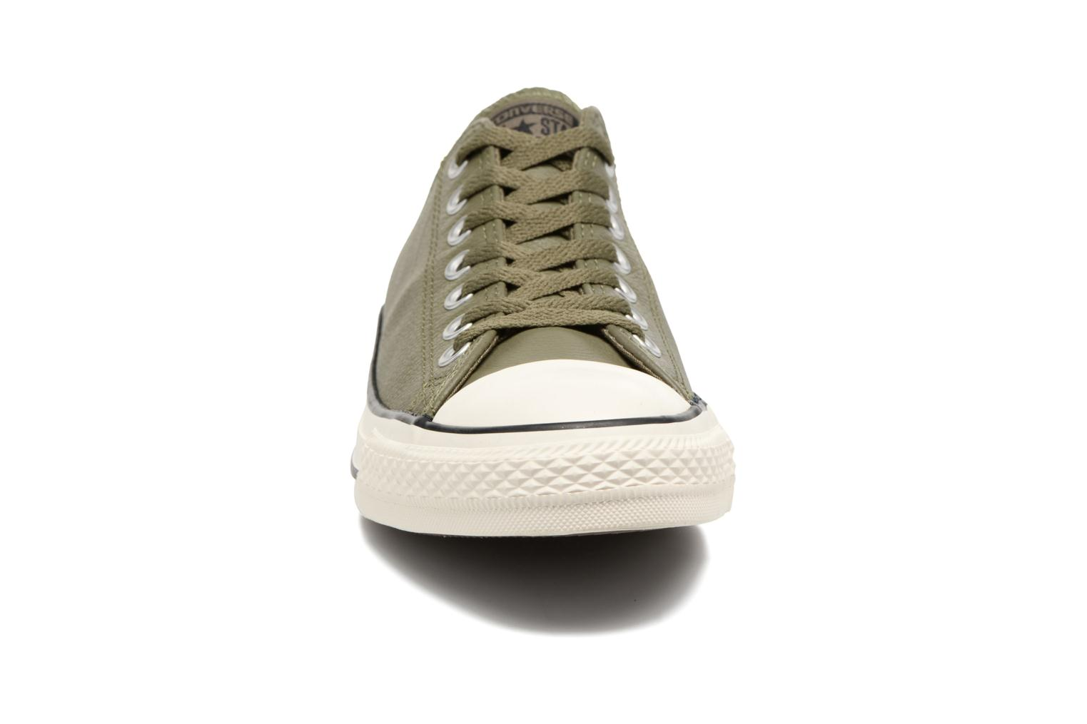 Baskets Converse Chuck Taylor All Star Tumble Leather Ox Vert vue portées chaussures
