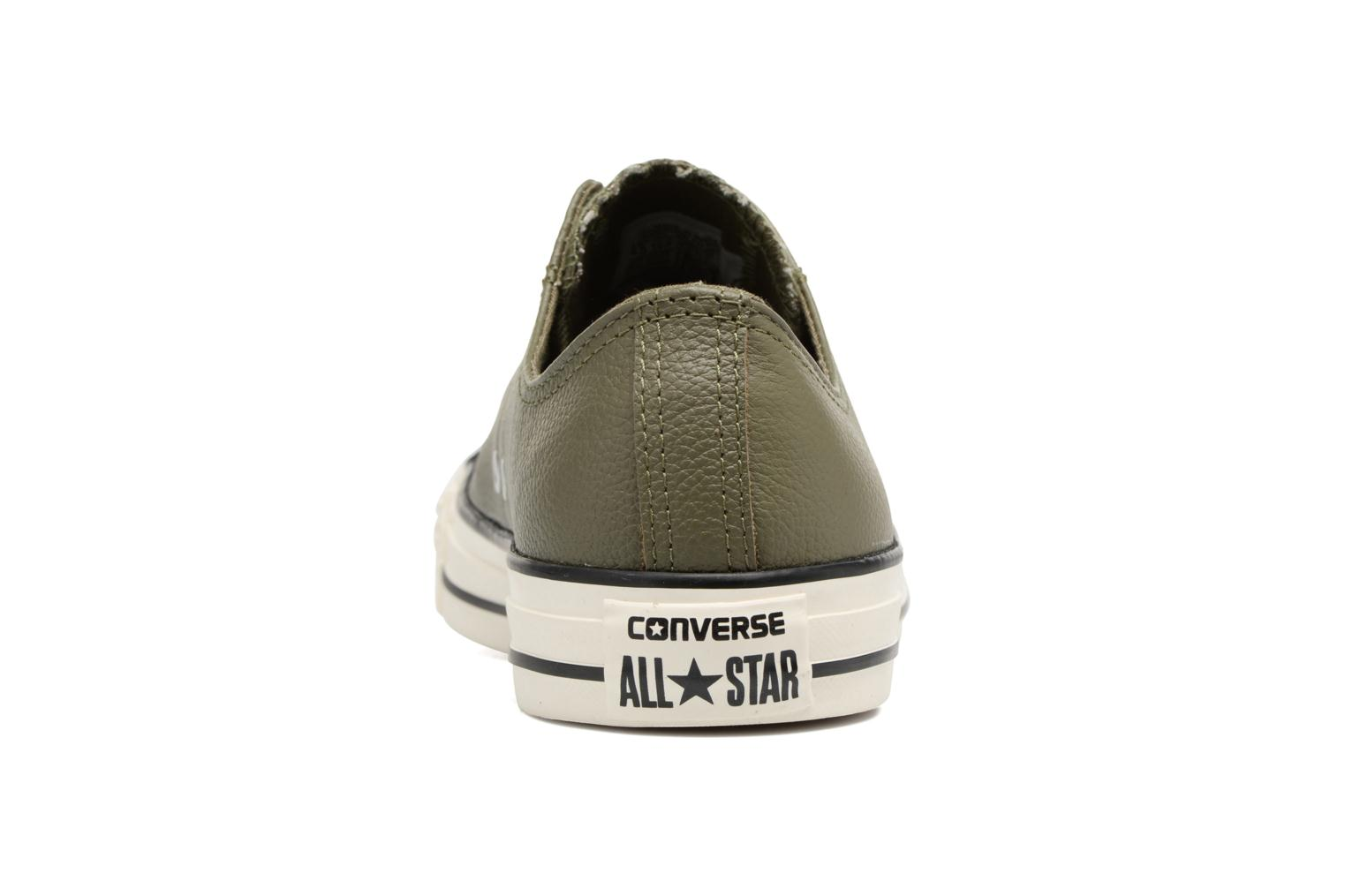 Baskets Converse Chuck Taylor All Star Tumble Leather Ox Vert vue droite