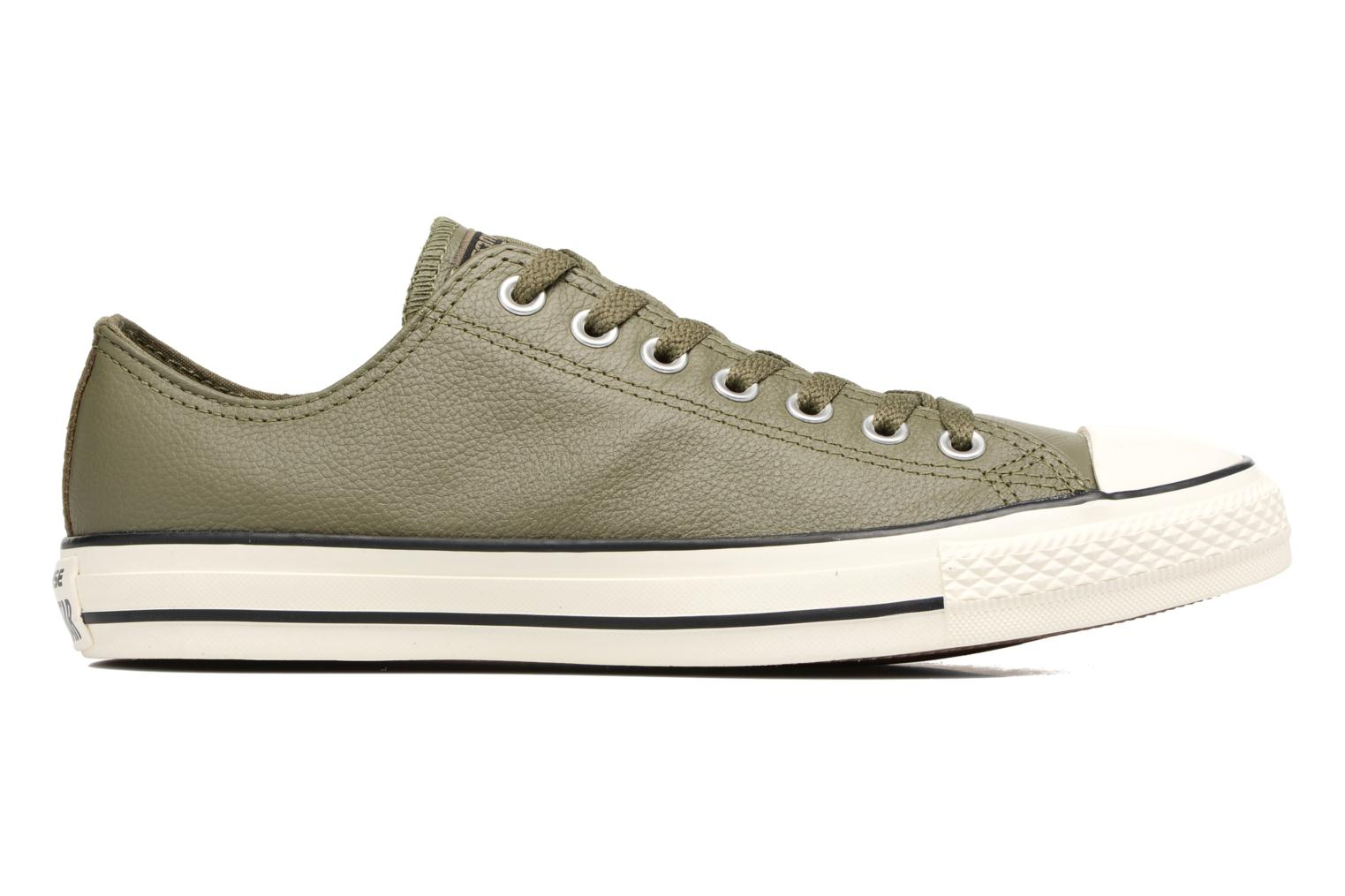 Baskets Converse Chuck Taylor All Star Tumble Leather Ox Vert vue derrière