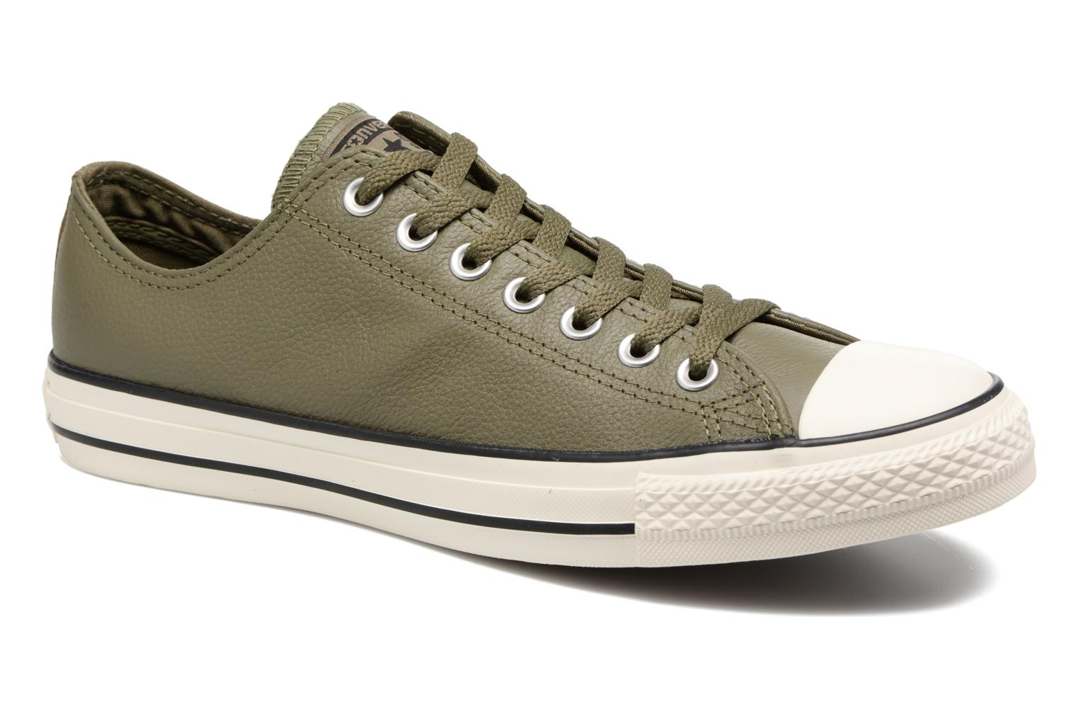 Baskets Converse Chuck Taylor All Star Tumble Leather Ox Vert vue détail/paire