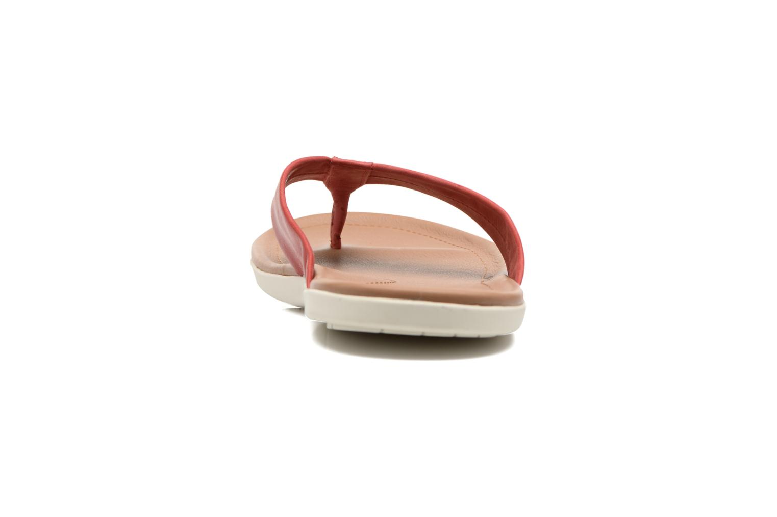 Tongs UGG Delray Rouge vue droite