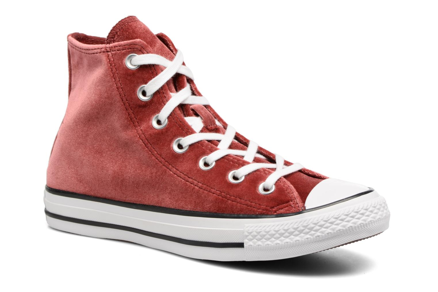 Trainers Converse Chuck Taylor All Star Velvet Hi Burgundy detailed view/  Pair view