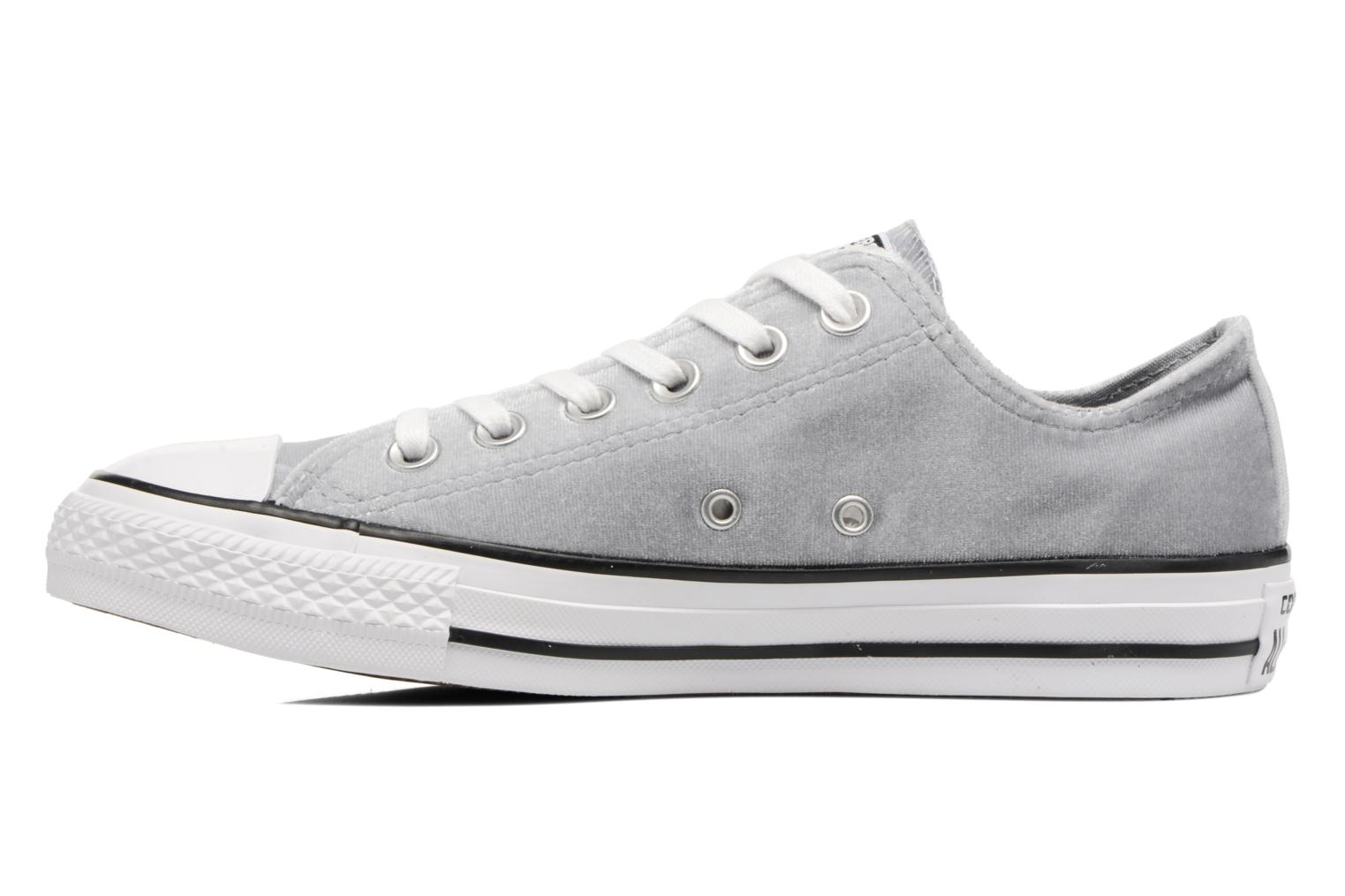 Baskets Converse Chuck Taylor All Star Velvet Ox Gris vue face