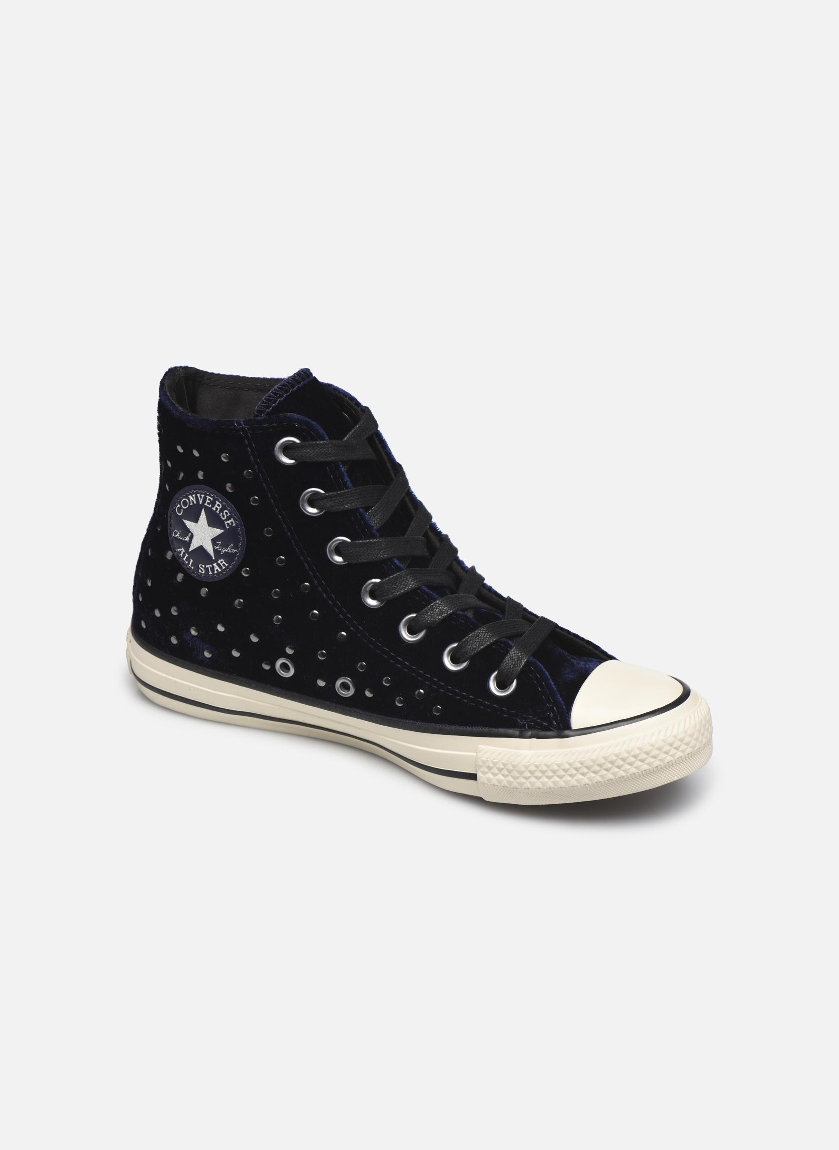 Converse Chuck Taylor All Star Velvet Studs Hi Bleu gWgxjq