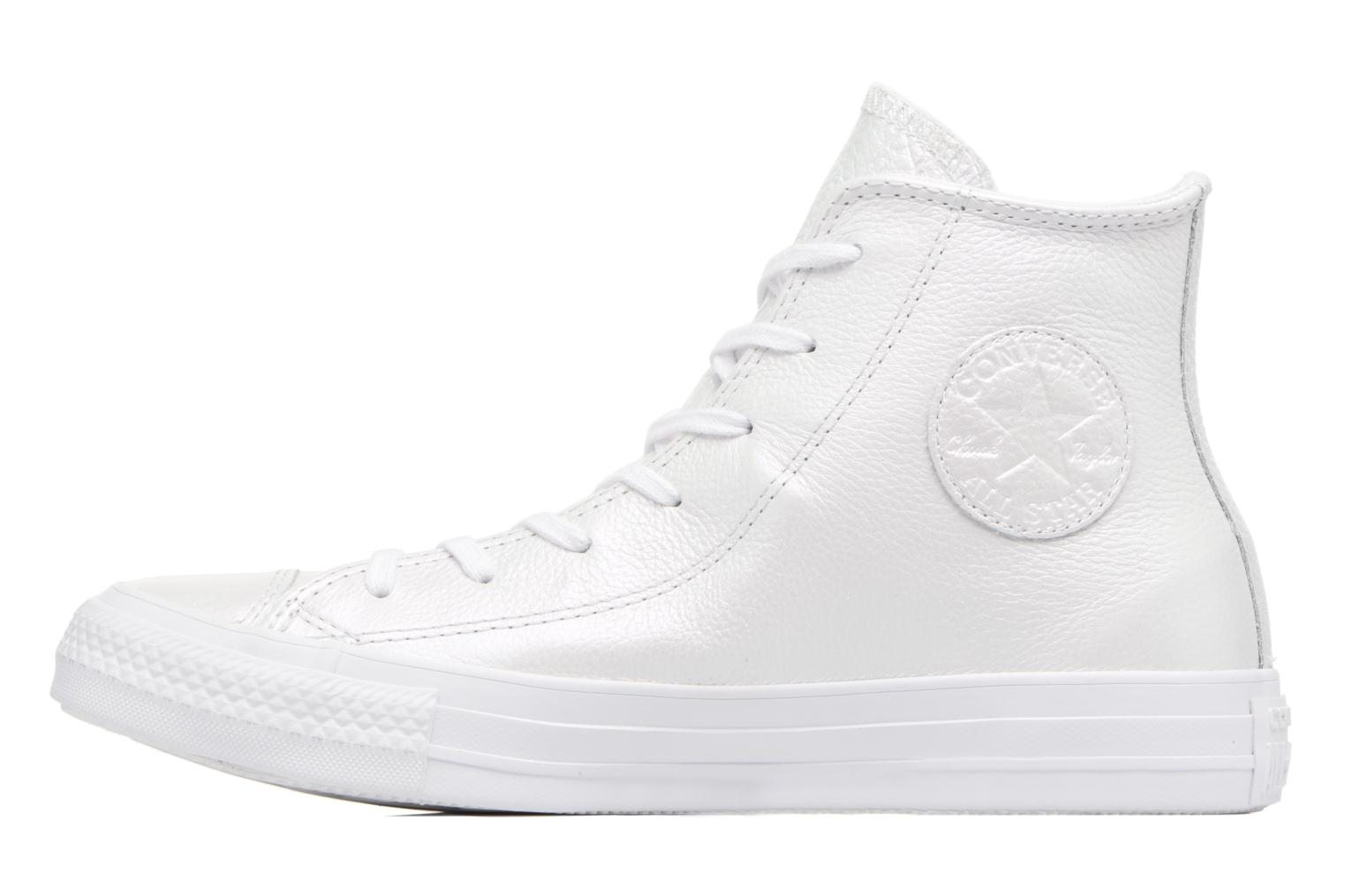 Baskets Converse Chuck Taylor All Star Iridescent Leather Hi Blanc vue face