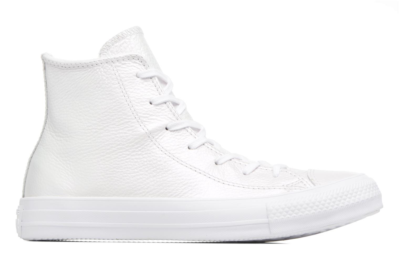 Baskets Converse Chuck Taylor All Star Iridescent Leather Hi Blanc vue derrière
