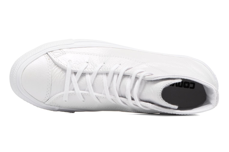 Baskets Converse Chuck Taylor All Star Iridescent Leather Hi Blanc vue gauche