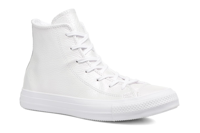 Baskets Converse Chuck Taylor All Star Iridescent Leather Hi Blanc vue détail/paire