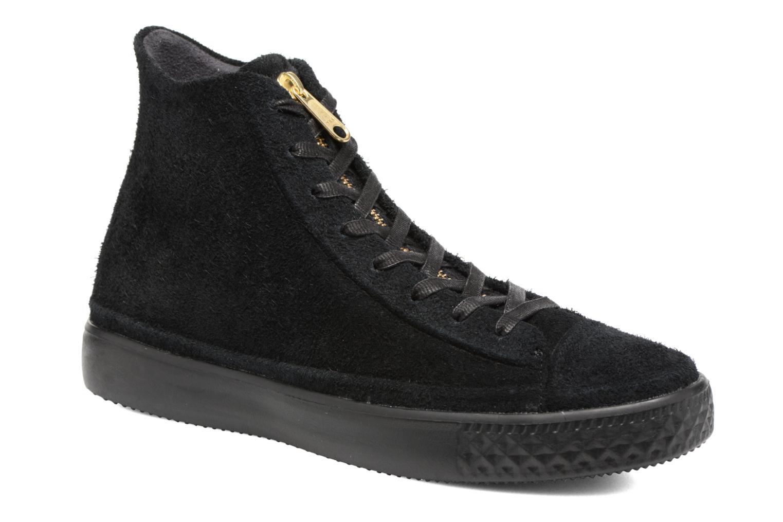 Baskets Converse Chuck Taylor All Star Modern Coated Suede Zip Hi Noir vue  détail/paire