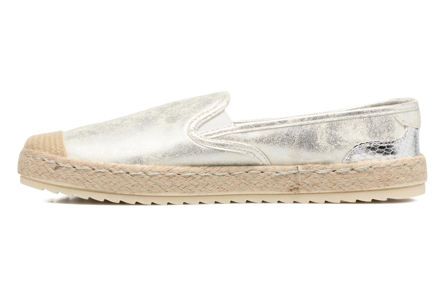 Espadrilles Mustang shoes Mocca Silver front view