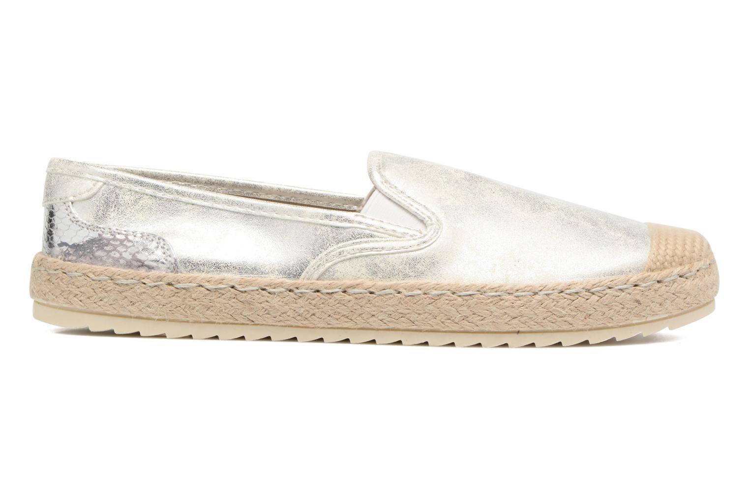 Espadrilles Mustang shoes Mocca Silver back view