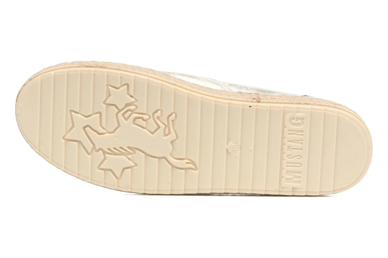 Espadrilles Mustang shoes Mocca Argent vue haut