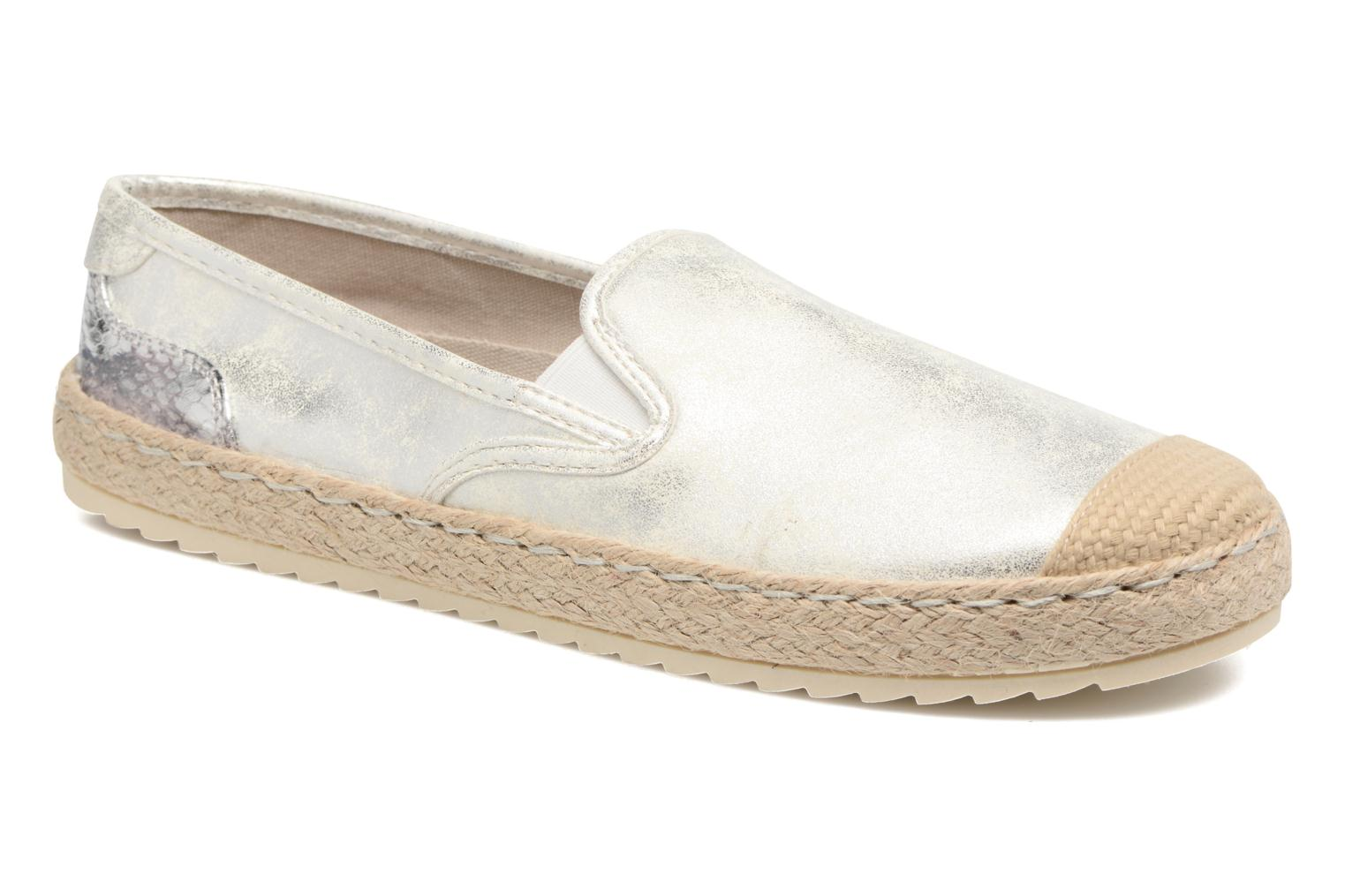 Espadrilles Mustang shoes Mocca Silver detailed view/ Pair view