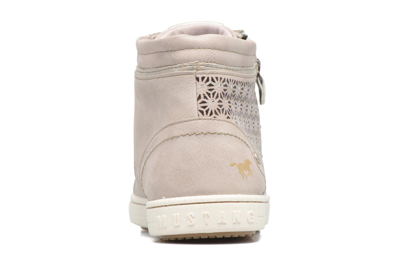 Baskets Mustang shoes Lira Beige vue droite
