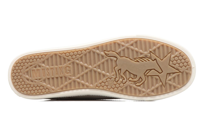 Baskets Mustang shoes Lira Beige vue haut