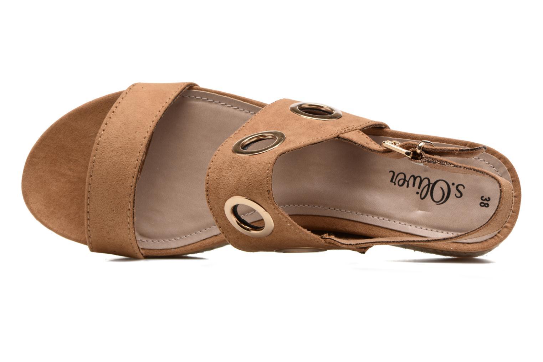 Sandales et nu-pieds S.Oliver Rocky Marron vue gauche