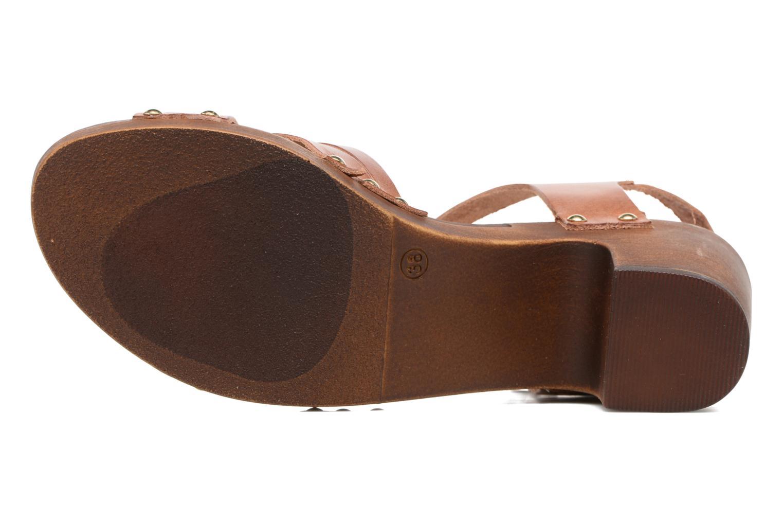 Sandales et nu-pieds S.Oliver Elly Marron vue haut