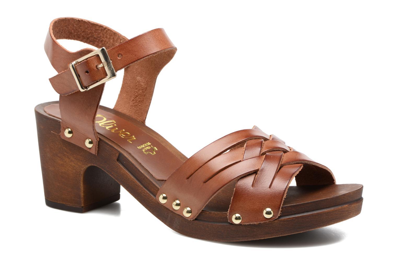 Sandales et nu-pieds S.Oliver Elly Marron vue détail/paire