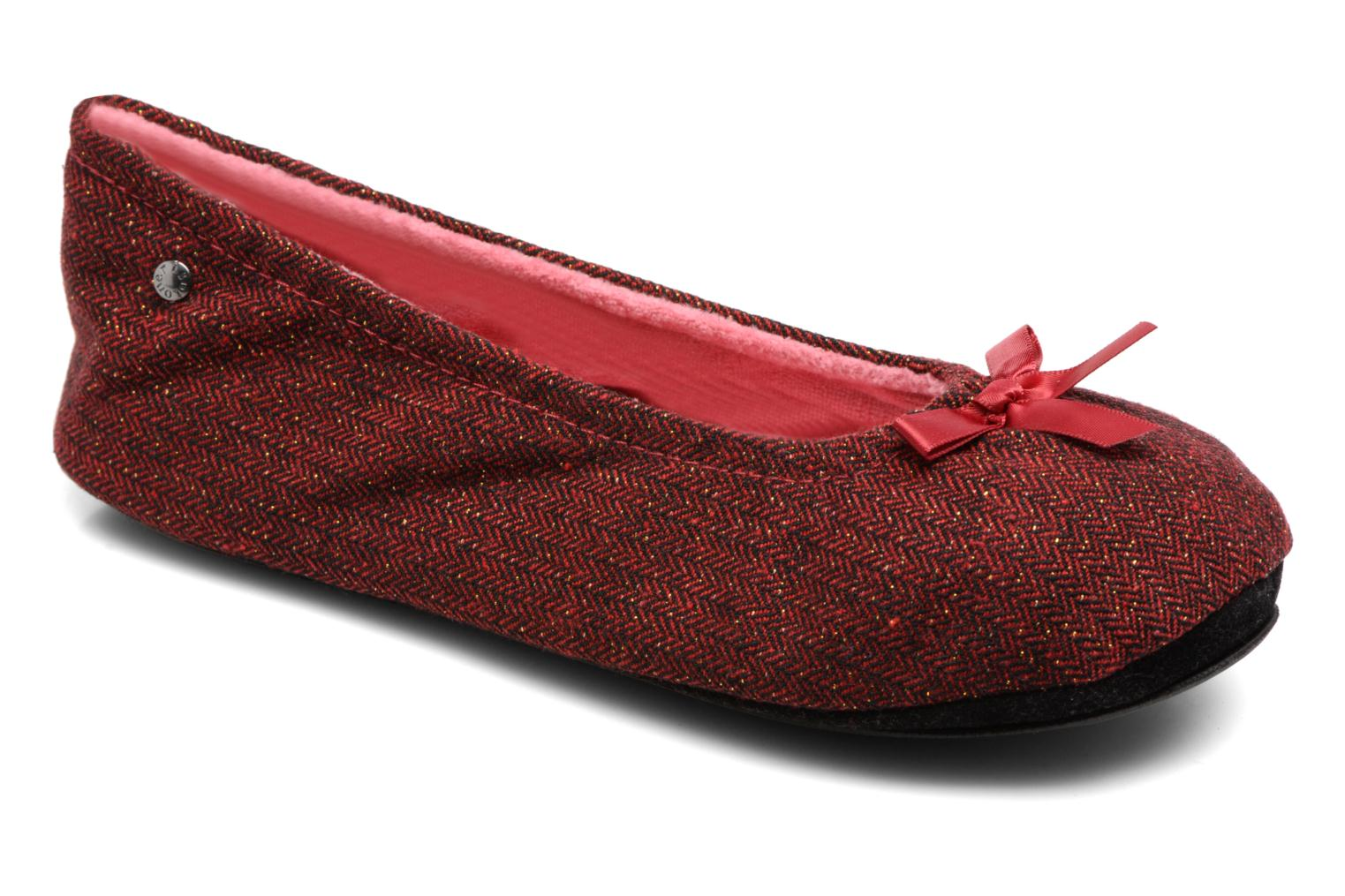 Ballerine chevron lurex Rouge