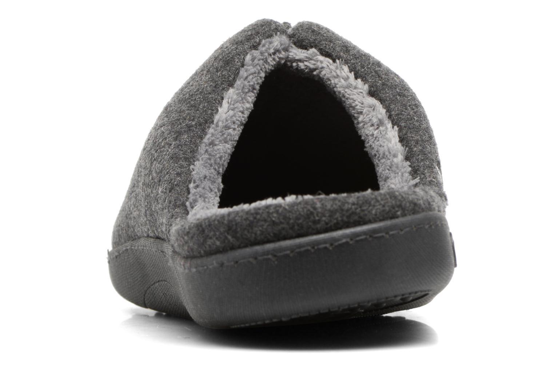 Chaussons Isotoner Mule ergonomique flanelle Gris vue droite