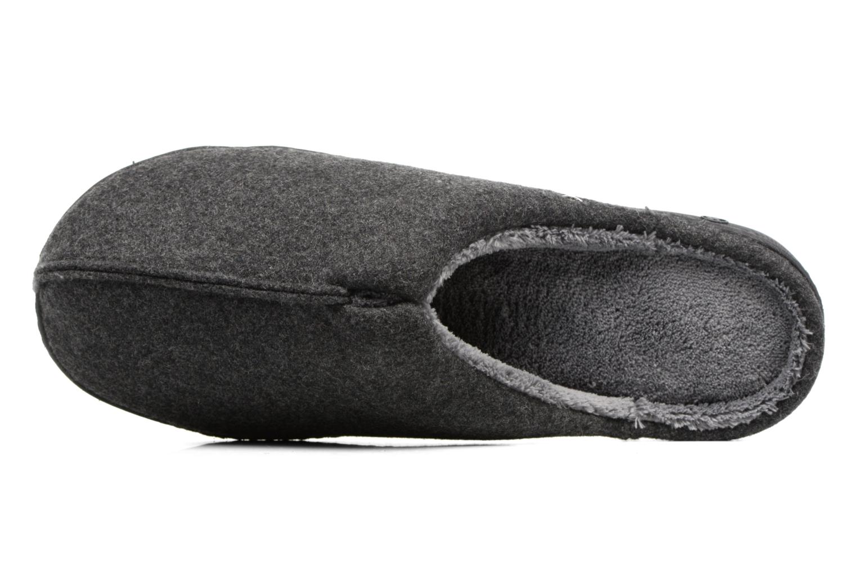 Chaussons Isotoner Mule ergonomique flanelle Gris vue gauche