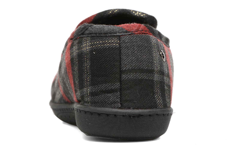 Chaussons Isotoner Charentaise ergonomique imprimé tartan Multicolore vue droite