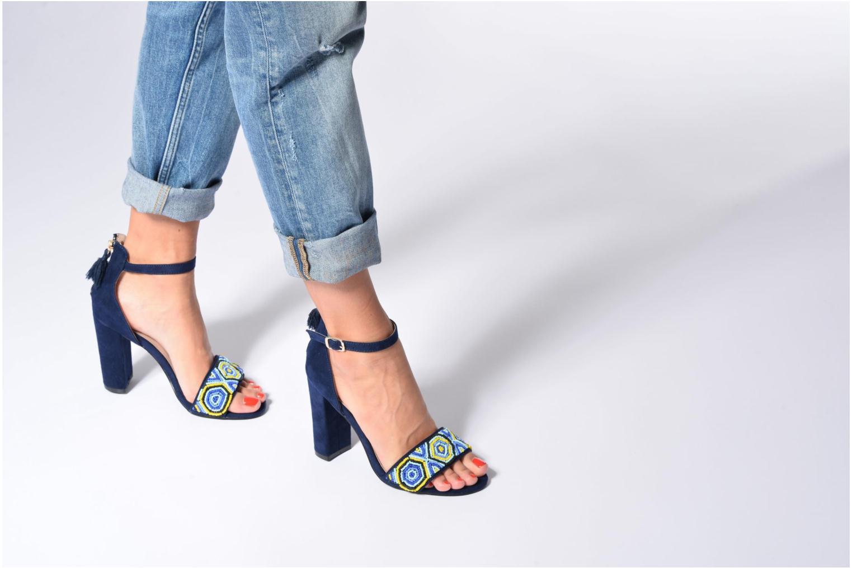 Sandales et nu-pieds Dorothy Perkins Sizzle Bleu vue bas / vue portée sac