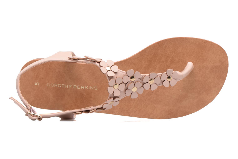 Sandales et nu-pieds Dorothy Perkins Fressia Rose vue gauche