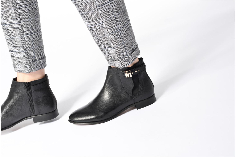 Bottines et boots Georgia Rose Aplati Noir vue bas / vue portée sac
