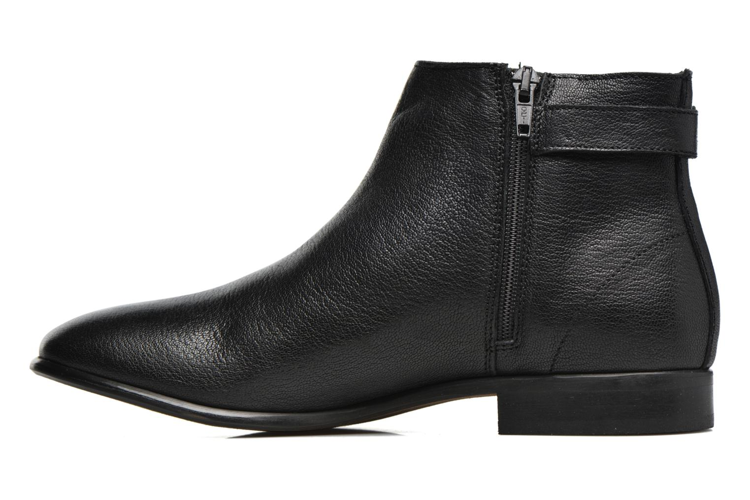 Ankle boots Georgia Rose Aplati Black front view