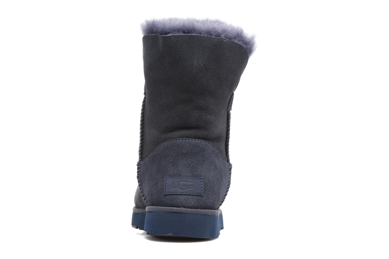 Bottes UGG Classic Cuff Short Bleu vue droite