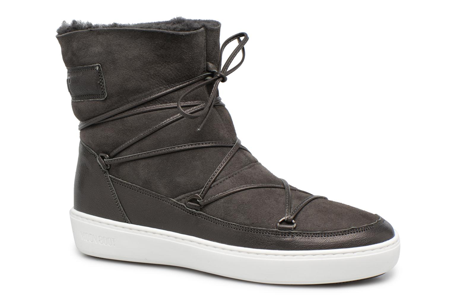 Chaussures de sport Moon Boot Pulse low shearling Gris vue détail/paire